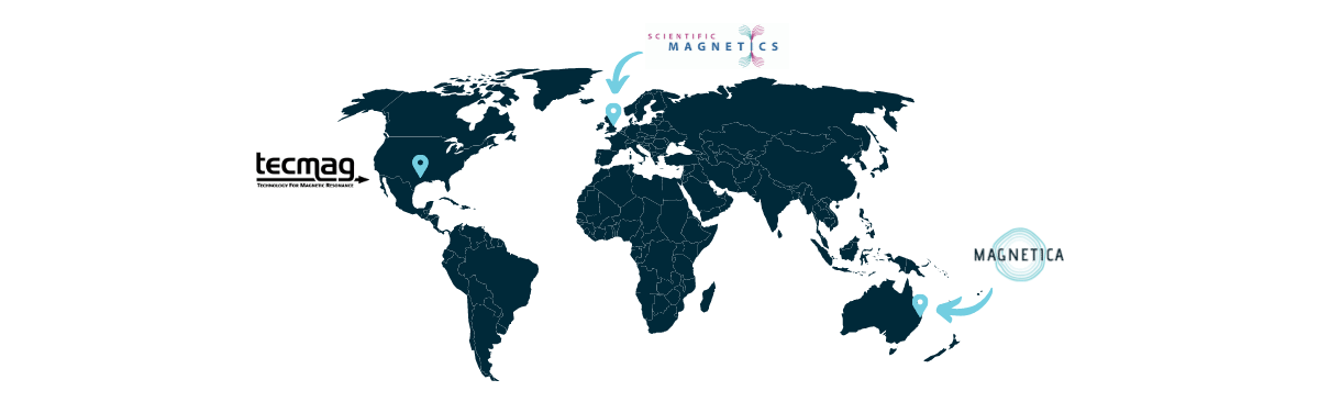 Magnetica world map with offices around the world