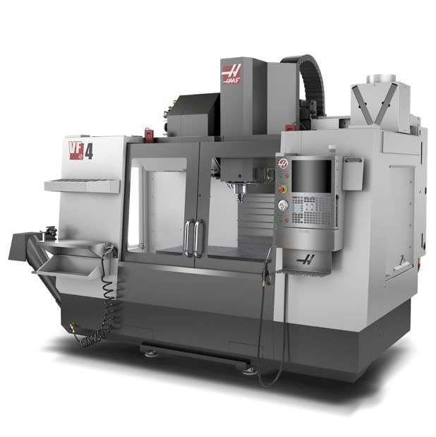 Haas VF4 Machining Centre 4 used for the production of Magnetica's OEM and custom gradient coils and RF coils, critical subcomponents in MRI systems.